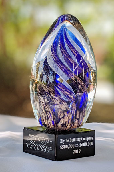 Blythe Building Company - 2019 Custom Building Award