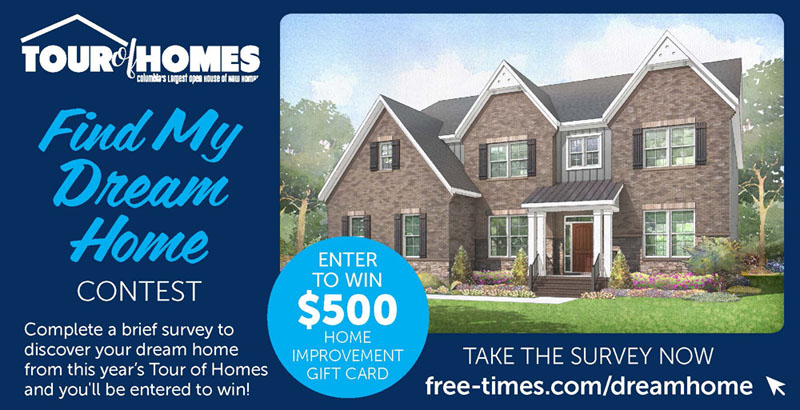 2018 Tour of Homes Find Your Dream Home contest