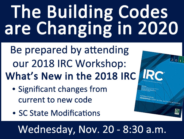 What's new in the 2018 IRC - Builder Workshop